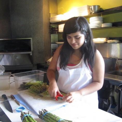 Isa Preparing Asparagus