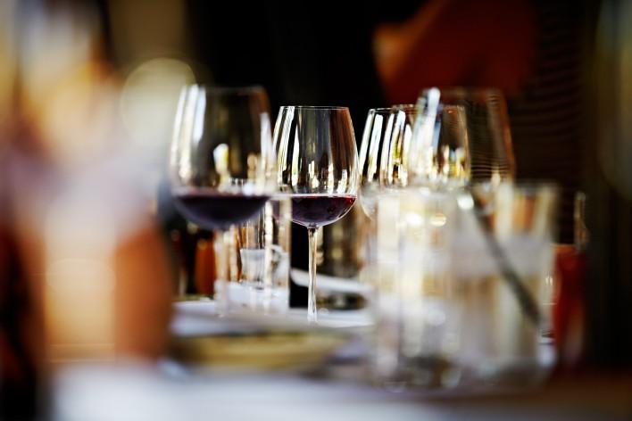 Table setting at Serafina