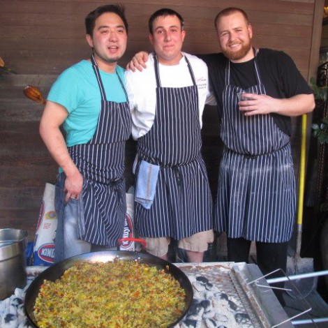 Paella at Third Annual Anniversary Party