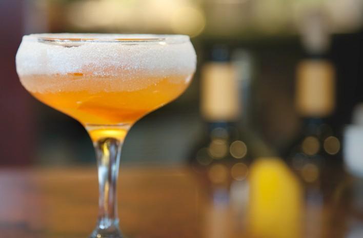 Craft cocktail at Serafina Seattle