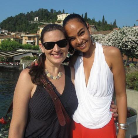 Sarah and Rachel in Italy