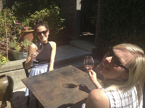 Kika and Cheryl on Cicchetti Patio