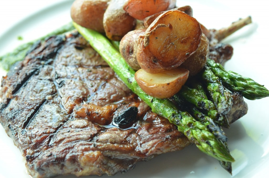 Spring Steak with Confit Potato and Asparagus